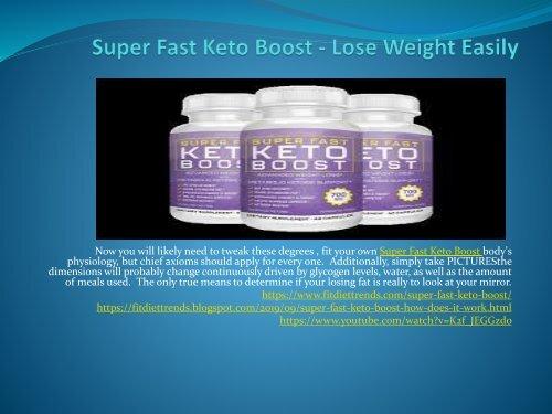 Super Fast Keto Boost - Obtain A Flat Stomach
