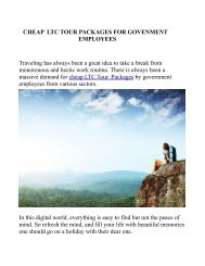 CHEAP  LTC TOUR PACKAGES FOR GOVENMENT EMPLOYEES