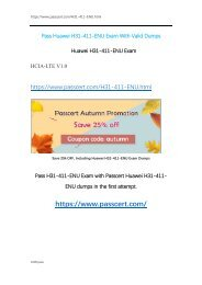 HCIA-LTE V1.0 H31-411-ENU Dumps
