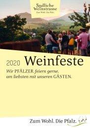 Weinfestkalender Südliche Weinstraße 2020