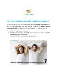 Are The Early Indications Of Erectile Dysfunction