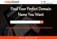 Domain Name Registration Company India