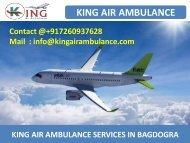 Full Medical Support Air Ambulance Service in Bagdogra and Varanasi by King