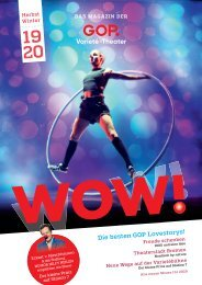 WOW! Das GOP Magazin - Ausgabe Herbst/Winter 19/20