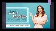Contact Official McAfee  Contact McAfee Customer Service