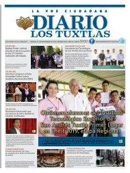 Edición de Diario Los Tuxtlas del día 27 de Septiembre de 2019