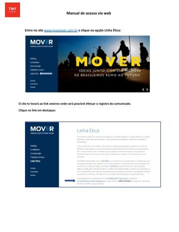 Manual de acesso via web Mover