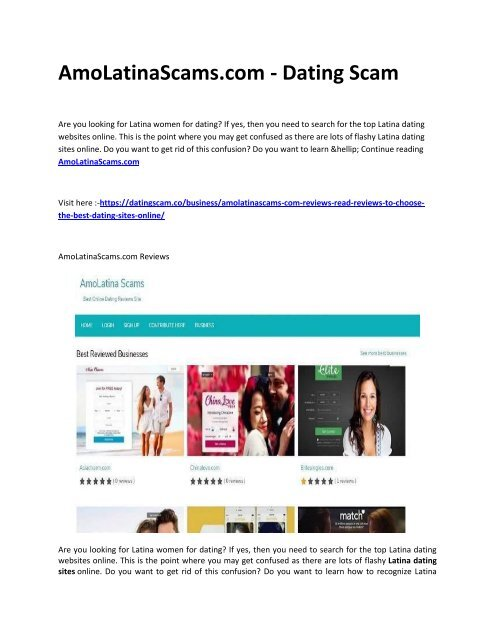 Latin american dating scams