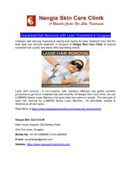 Unwanted Hair Removal with Laser Treatment in Gurgaon