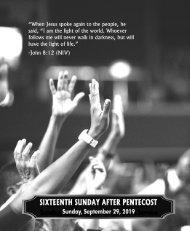 09_29_2019 Sixteenth Sunday After Pentecost