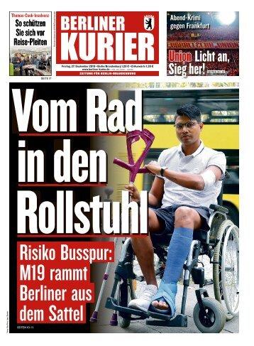 Berliner Kurier 27.09.2019