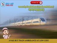 Obtain Low Budget ICU Facility in Train Ambulance