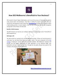 How SEO Melbourne is Beneficial to Your Business