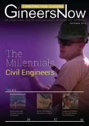 The Millennial Civil Engineers, Construction Leaders magazine, Oct2019