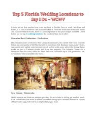 Top 5 Florida Wedding Locations to Say I Do - WCWV