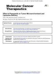 Effect of Pazopanib on Tumor Microenvironment and Liposome ...