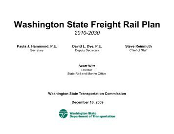 WSDOT FREIGHT PLAN - Washington State Transportation ...