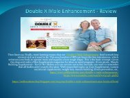 Double X Male Enhancement  - Improve Your Bed Drive