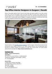 Top Office Interior Designers in Gurgaon-Resaiki