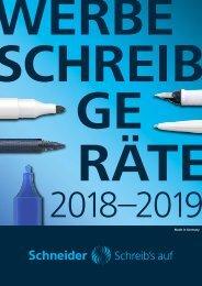 Schneider Schreibgeräte Werbemittel Katalog