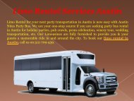 Best Limo Rental Services Austin