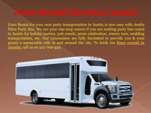Best Limo Rental Services Austin