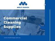 Cleaning Supplies In Australia - Multi Range