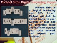 Michael Sirbu Digital Marketing Expert