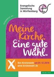 Meine Kirche - ein gute Wahl: Rundbrief der Ev. Sammlung zur Kirchenwahl 2019