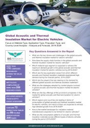 Acoustic and Thermal Insulation Market for Electric Vehicles