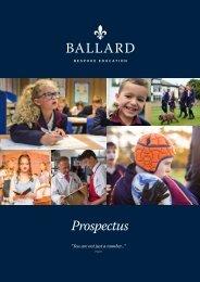 Ballard School Prospectus