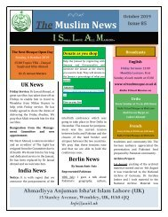 Muslim News No 85 October 2019