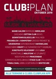 Clubplan Hamburg - Oktober 2019