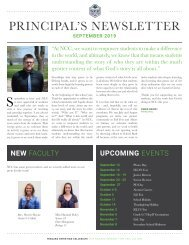 W - September - Principal's Newsletter
