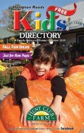 Hampton Roads Kids' Directory October 2019 Issue