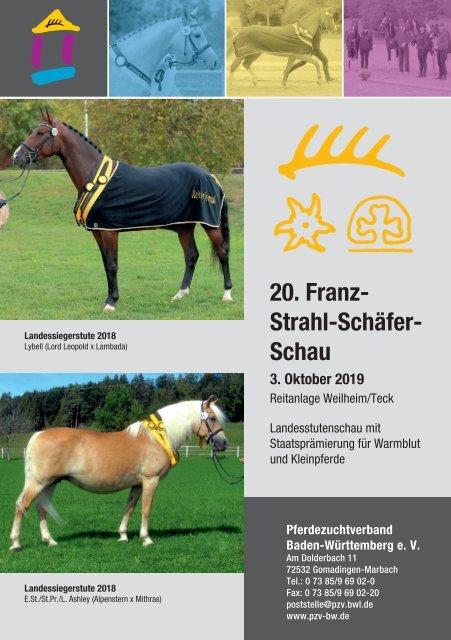 Landesstutenschau Weilheim/Teck am 3. Oktober 2019