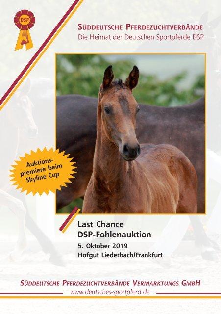 DSP-Fohlenauktion Last Chance am 5. Oktober 2019