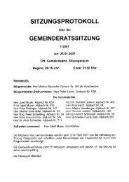 Gemeinderatssitzung vom 2007.01.25 - .PDF - Alpbach - Land Tirol