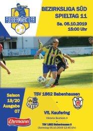 20191005 Fuggermärktler TSV 1862 Babenhausen – VfL Kaufering