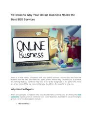 10 Reasons Why Your Online Business Needs the Best SEO Services