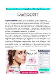 Dermacort Skin Cream Reviews, Side Effects & Benefits (How To Buy) !