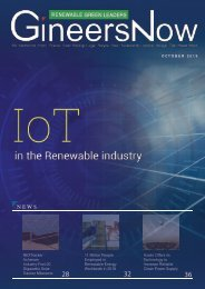 Internet of Things in the Green Energy, Renewable and Clean Energy Leaders magazine, Oct2019