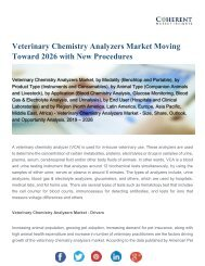 Veterinary Chemistry Analyzers Market Shows Expected Growth from 2019-2026