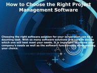 How to Choose the Right Project Management Software Converted