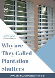 Why are They Called Plantation Shutters