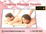 Romantic Couples Massage Toronto | By King Thai Massage