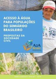 ACESSO À ÁGUA PARA POPULAÇÕES DO SEMIÁRIDO BRASILEIRO