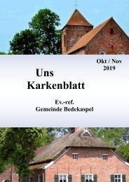 Uns Karkenblatt Oktober-November 2019