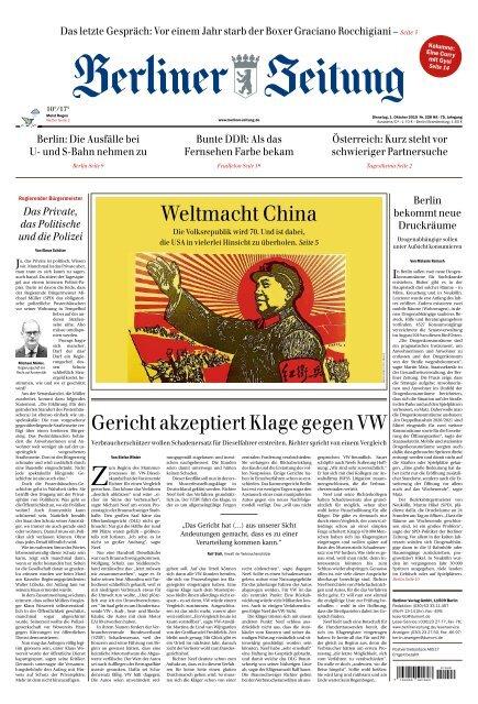 Berliner Zeitung 01.10.2019