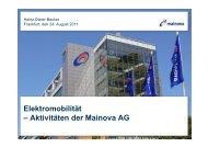 Elektromobilität - Aktivitäten der Mainova AG (pdf | 0,83